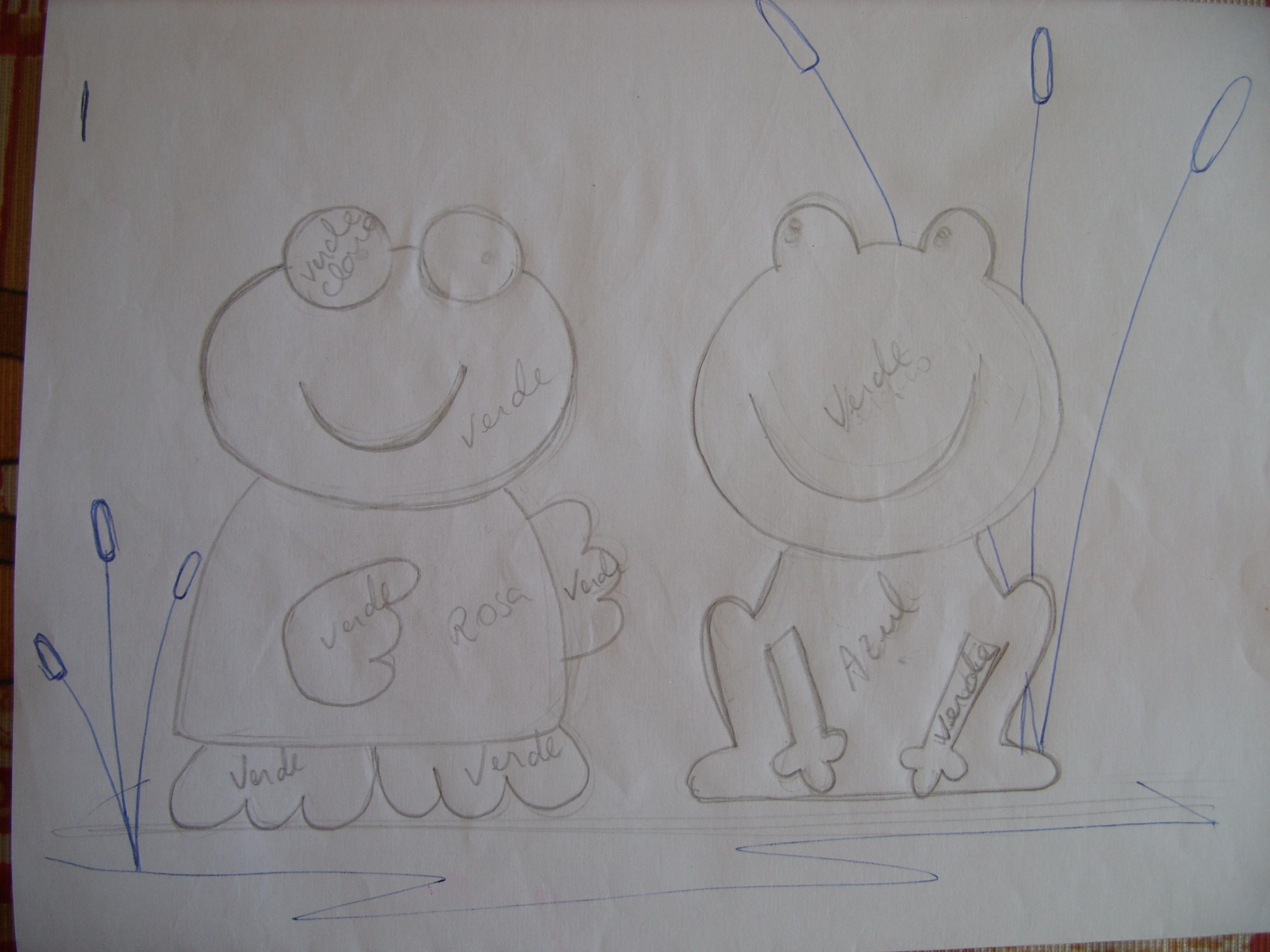 : quem faz os desenhos para mim é meu marido, eu não sei desenhar