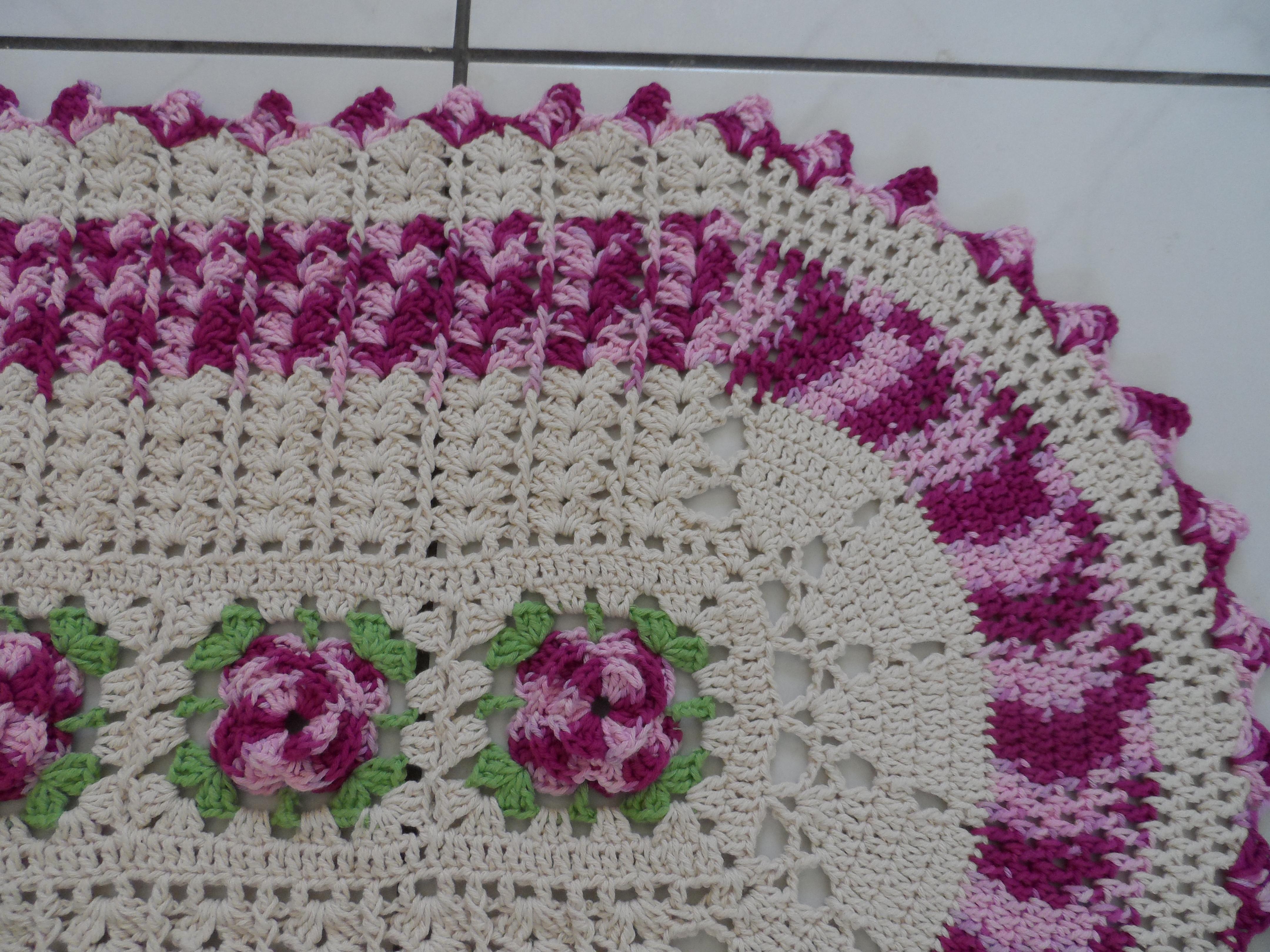 Detalhe Tapete Barbante Croche
