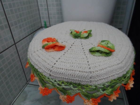 Tampa vaso sanitário em croche